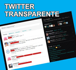 Sidebar do Twitter Transparente