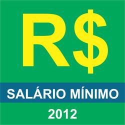Aumento salário mínimo 2012