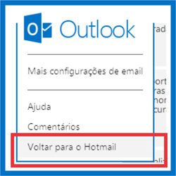 Email Outlook – Como voltar para o Hotmail