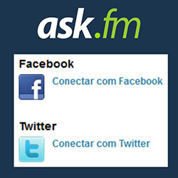 Conectar desconectar ask.fm Facebook Twitter