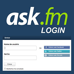Ask fm login in