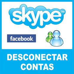 Desconectar Skype Facebook MSN Messenger