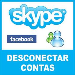 Desconectar Skype de conta do MSN Messenger e Facebook