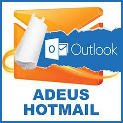 Quando vou entrar no Hotmail aparece o Outlook