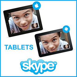 Skype tablet Android iPad