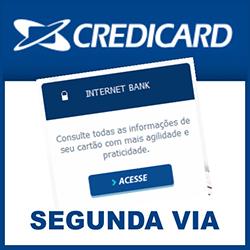 Tirar 2ª via Credicard pela internet e imprimir fatura