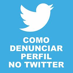 Denunciar violações spam Twitter