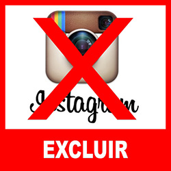 Como excluir o instagram