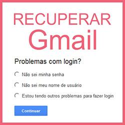 Recuperar senha de email do Gmail