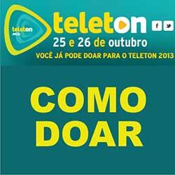 Como doar para Teleton 2013 do SBT (25 e 26 de outubro)