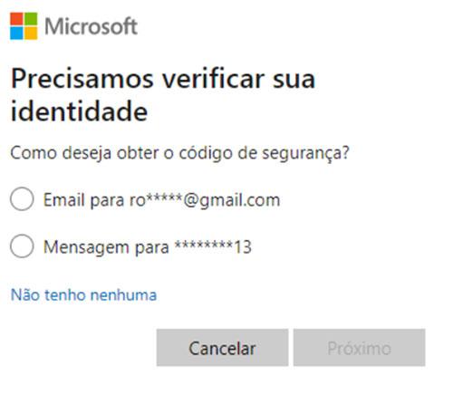 Redefinir Senha Hotmail